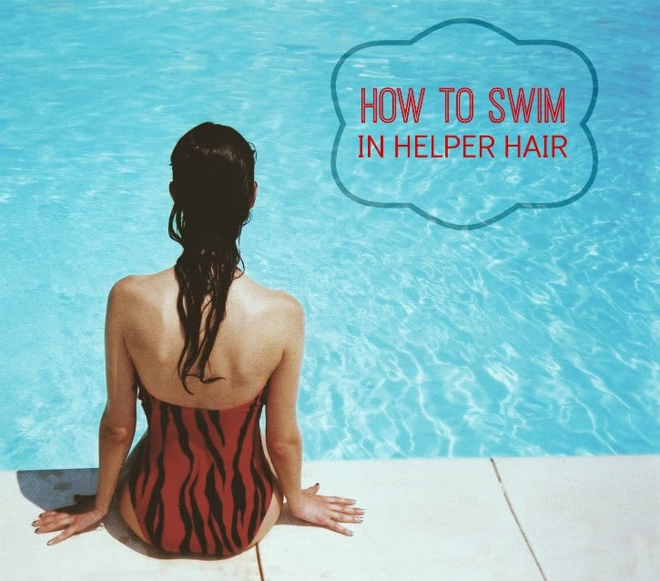 how to swim in a wig
