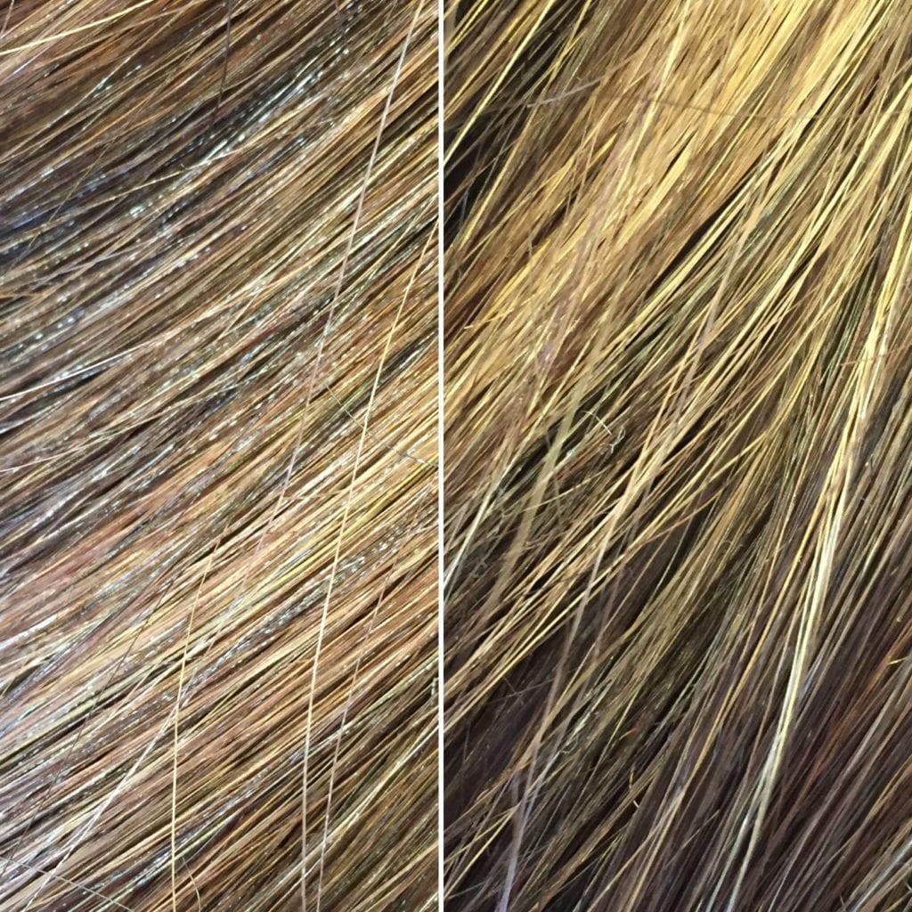 hairspray buildup on synthetic hair