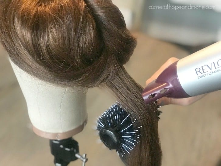 blow dry human hair