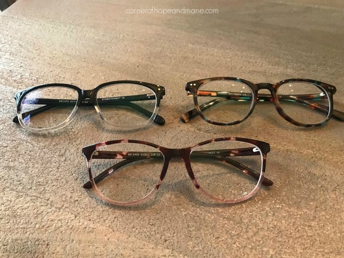 Glasses from EyeBuyDirect - Demain, Release and Escape
