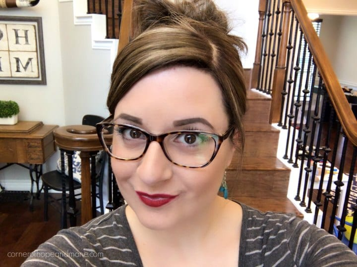 Vogue cat eye glasses to match my hair topper