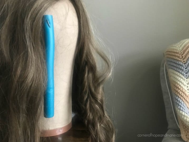 Pin roller to your wig head